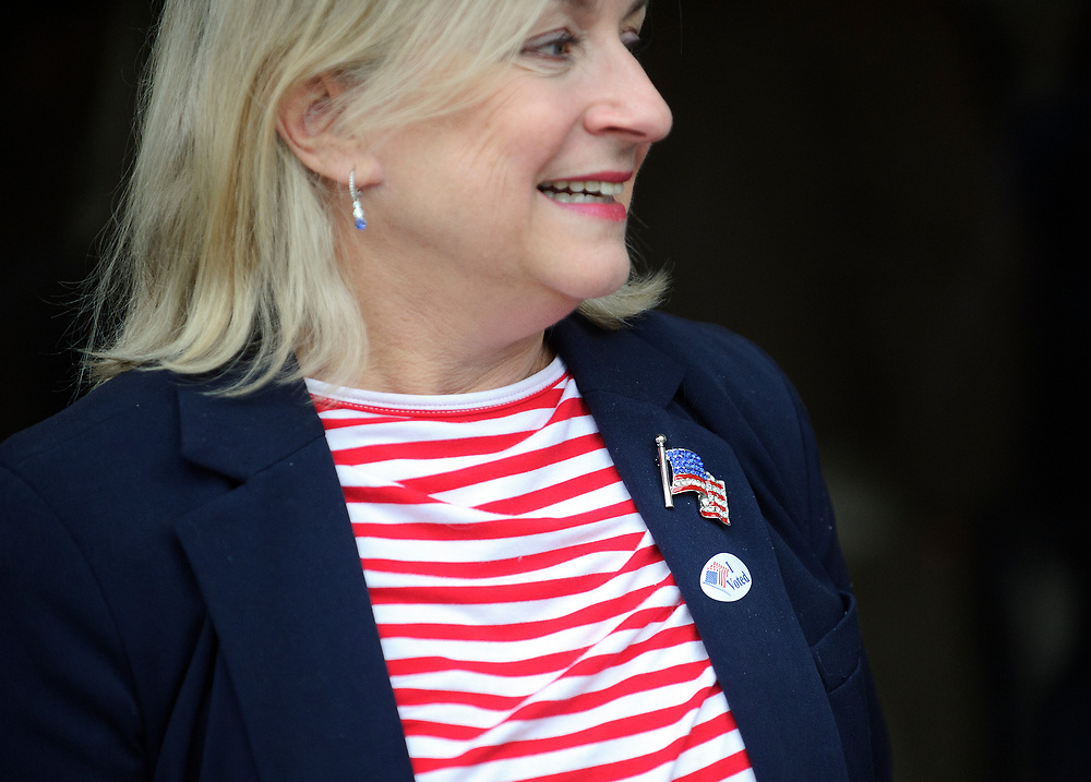 Susan Wild, Democratic candidate for Pennsylvania's new 7th Congressional District, votes on Election Day at Calvary Temple Church on Nov. 6, 2018, in Allentown, Pennsylvania.