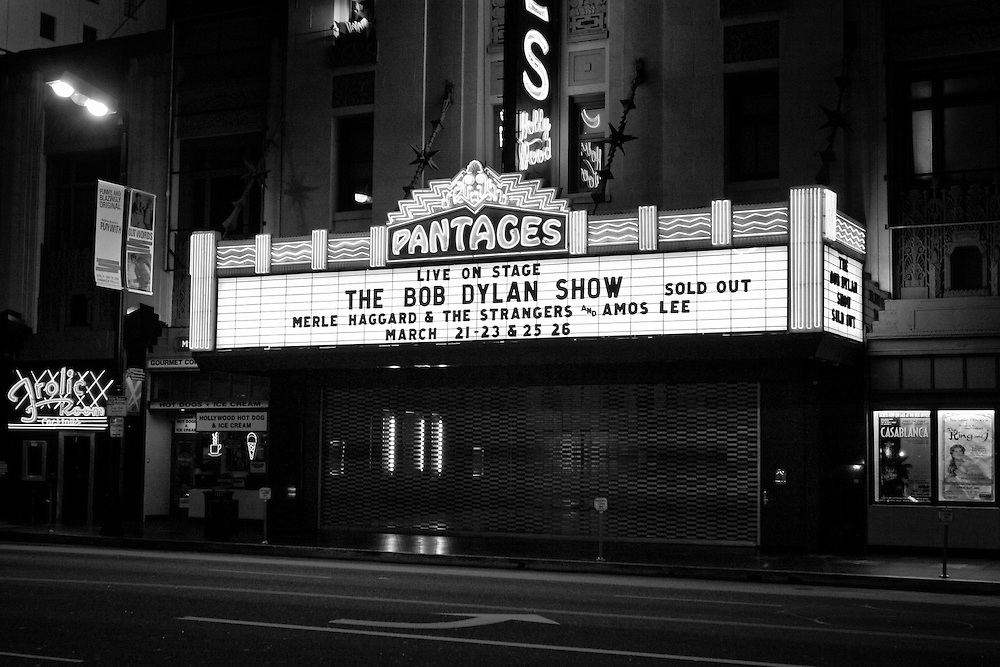 The Bob Dylan Show at the Pantages Theatre on Hollywood Boulevard in Hollywood, CA. (USA)