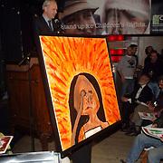 NLD/Amsterdam/20060419 - Kunstveiling Art for Dreams ten bate van Childright, schilderij van Mikki Hulscher