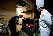 Roof-top BBQ at the Hotel Ciego de Avila, Cuba.