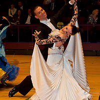 Alexander Einfinger & Juliane Strehmann perform during the professional ballroom competition of the International Championships held in Brentwood International Centre, Brentwood, United Kingdom. Wednesday, 20. October 2010. ATTILA VOLGYI