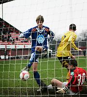 FOTBALL 1. divisjon herre Adeccoserien, Moss vs Aalesund, Melløs stadion, Tor Hogne Aarøy Aalesund setter inn 3-0 til Aalesund, FOTO KURT PEDERSEN