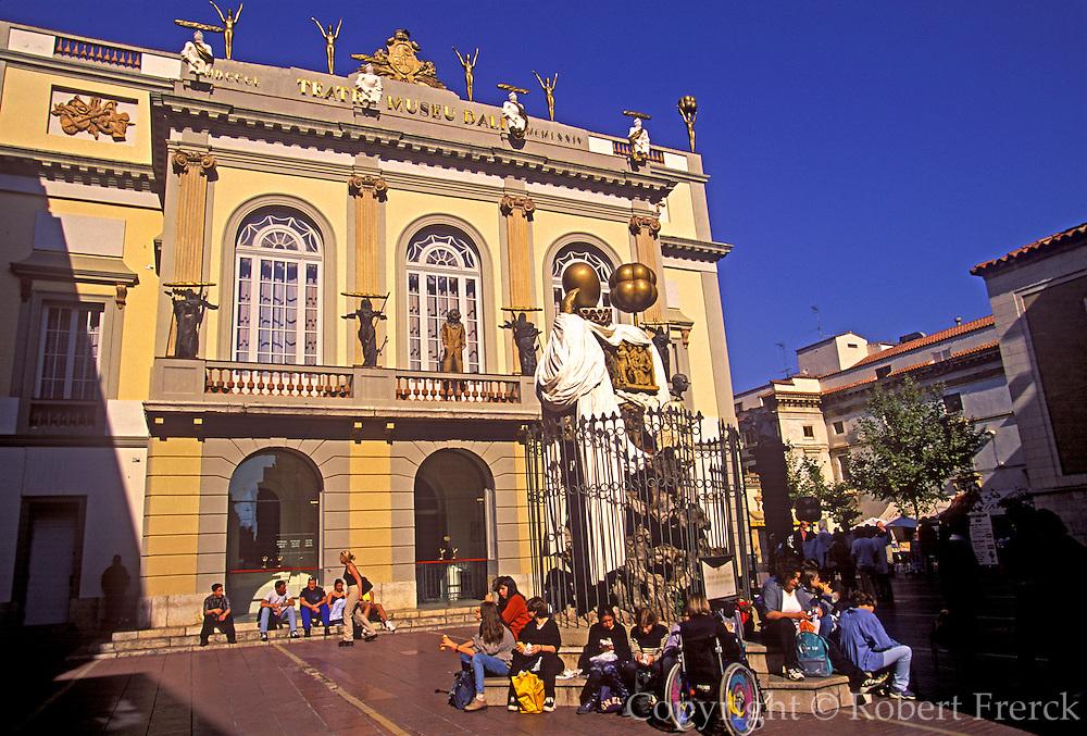 SPAIN, COSTA BRAVA, FIGUERES Surrealist sculpture at Teatro-Museo Dali