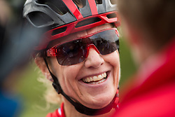 August 7, 2018 - Glasgow, UNITED KINGDOM - 180807 Gunn-Rita Dahle FlesjÃ¥ of Norway after competing in the Women's Mountain Bike Cycling during the European Championships on August 7, 2018 in Glasgow..Photo: Jon Olav Nesvold / BILDBYRÃ…N / kod JE / 160288 (Credit Image: © Jon Olav Nesvold/Bildbyran via ZUMA Press)