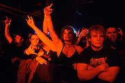 Fans at Pop's in Sauget, IL for Machine Head on January 17, 2012.