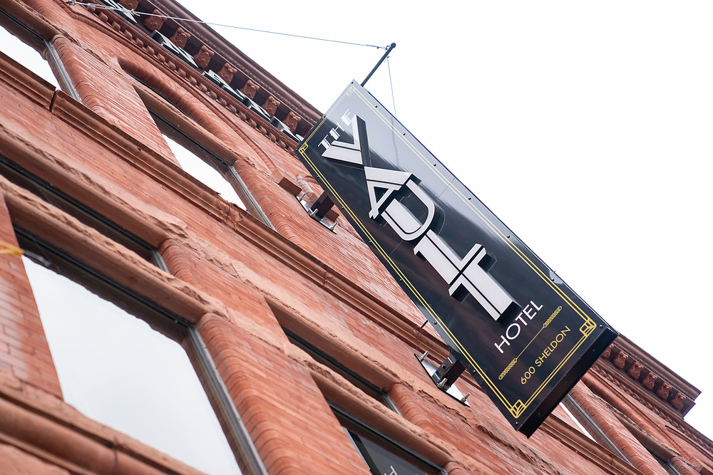 The Vault hotel in Houghton, Michigan.