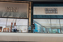 Edinburgh, Scotland, UK. 24 June 2021. First images of the new St James Quarter which opened this morning in Edinburgh. The large retail and residential complex replaced the St James Centre which occupied the site for many years.Pic; Some stores remain closed,.  Iain Masterton/Alamy Live News
