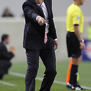 Mike Petke, Coach of the New York Red Bulls, on the touchline during the New York Red Bulls V New England Revolution, Major League Soccer regular season match at Red Bull Arena, Harrison, New Jersey. USA. 20th April 2013. Photo Tim Clayton