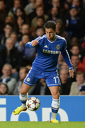 18.09.2013, Stamford Bridge, London, ENG, UEFA Champions League, FC Chelsea vs FC Basel, Gruppe E, im Bild Chelsea's Eden Hazard   during UEFA Champions League group E match between FC Chelsea and FC Basel at the Stamford Bridge, London, United Kingdom on 2013/09/18. EXPA Pictures © 2013, PhotoCredit: EXPA/ Mitchell Gunn <br /> <br /> ***** ATTENTION - OUT OF GBR *****