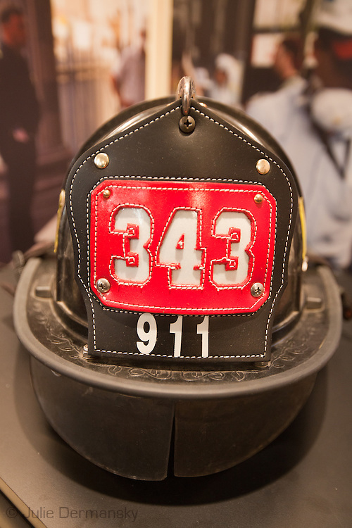 A firemans uniform now part of a memorial to victims of the 9/11 terrorist attacks  inside St Paul's Chapel across from Ground Zero, in New York City , September 9, 2011. New York  has heightened security  as the 10th anniversary of the 9/11 World Trade Center approaches.