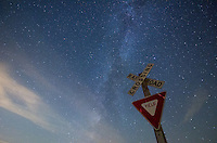 The sky was fairly dark in rural Stark County and the milky way was shining brightly above this railroad crossing.