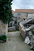 Street scene, village of Zrnovo, island of Korcula, Croatia