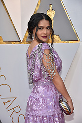 Salma Hayek walking the red carpet as arriving for the 90th annual Academy Awards (Oscars) held at the Dolby Theatre in Los Angeles, CA, USA, on March 4, 2018. Photo by Lionel Hahn/ABACAPRESS.COM