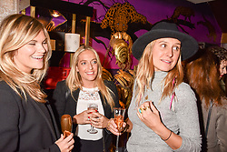 Left to right, Lucia Dailey, Charlotte Bobroff and Caroline Morgan at the Seren London Launch Party held at Baar And Bass, 336 Kings Road, London England. 26 April 2017.