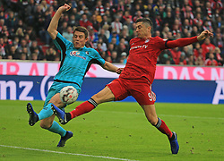 03.11.2018, 1. BL, FC Bayern vs SC Freiburg, Allianz Arena Muenchen,  Fussball, Sport, im Bild:...Dominique Heintz (SC Freiburg) vs Robert Lewandowski (FCB)..DFL REGULATIONS PROHIBIT ANY USE OF PHOTOGRAPHS AS IMAGE SEQUENCES AND / OR QUASI VIDEO...Copyright: Philippe Ruiz..Tel: 089 745 82 22.Handy: 0177 29 39 408.e-Mail: philippe_ruiz@gmx.de. (Credit Image: © Philippe Ruiz/Xinhua via ZUMA Wire)