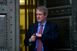 © London News Pictures. 09/02/2013 . London, UK.  Secretary of State for Environment, Food and Rural Affairs, OWEN PATERSON outside the Department for the Environment, Food and Rural Affairs in London where he is due to meet with representatives of the FSA, as well as food retailers and suppliers, to discuss the unfolding scandal over horsemeat being found in various products.. Photo credit : Ben Cawthra/LNP
