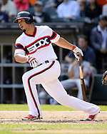 CHICAGO - SEPTEMBER 10:  Jose Abreu #79 of the Chicago White Sox bats against the San Francisco Giants on September 10, 2017 at Guaranteed Rate Field in Chicago, Illinois.  The White Sox defeated the Giants 8-1.  (Photo by Ron Vesely) Subject:   Jose Abreu