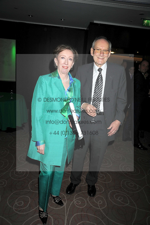 MARGARET BECKETT MP and her husband LEO BECKETT at the Palace of Varieties in aid of Macmillan Cancer Support held at the InterContinental Hotel, Park Lane, London on 5th February 2009.