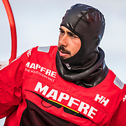 Leg 4, Melbourne to Hong Kong, day 02 on board MAPFRE, Guillermo Altadill. Photo by Ugo Fonolla/Volvo Ocean Race. 02 January, 2018.