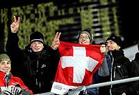 Hopp Ski Jumping<br /> World Cup - Verdenscup<br /> Lillehammer Lysgårdsbakken 02.12.06<br /> Foto: Kasper Wikestad<br /> <br /> Sveits Suisse Swiss fans celebrating jubler