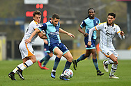Wycombe Wanderers Nick Freeman(22) and Port Vale's Luke Hannant (34) during the EFL Sky Bet League 2 match between Wycombe Wanderers and Port Vale at Adams Park, High Wycombe, England on 24 March 2018. Picture by Alistair Wilson.
