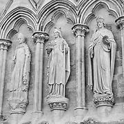 Salisbury Cathedral Statues - Salisbury, UK - Black & White
