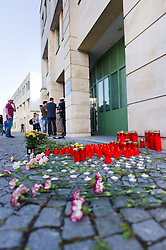 27.08.2015, Autobahn A4, Burgenland, AUT, Bis zu 50 tote Flüchtlinge in Lkw auf A4 in Burgenland, Pressekonferenz, im Bild TEXT // during press conference according to case of dead refugees in truck at freeway A4 in Burgenland on 2015/08/27, EXPA Pictures © 2015, PhotoCredit: EXPA/ Michael Gruber