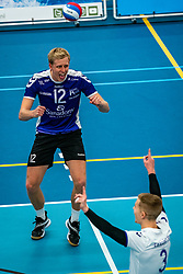 Tom van Steenis of Vocasa in action during the first league match in the corona lockdown between Talentteam Papendal vs. Vocasa on January 13, 2021 in Ede.
