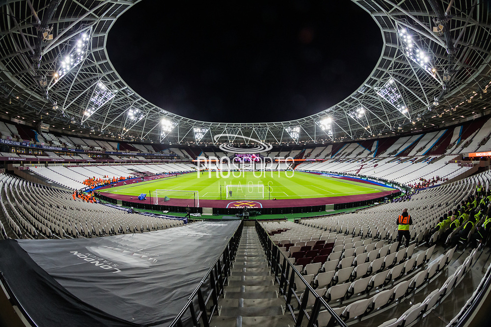 General View of the London Stadium ahead of the Premier League match between West Ham United and Arsenal at the London Stadium, London, England on 9 December 2019.