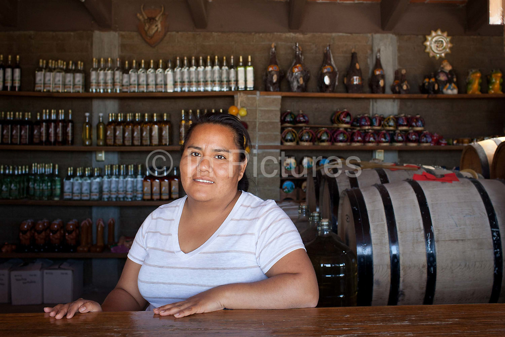 Distillery with mescal and shop. Oaxaca in southern Mexico is known for being the main producer of Mescal, the drink of which Tequila is a type. The Mescal route around the area of Mitla has dozens of artisan distilleries which can be visited to take part in Mescal tasting sessions and to see how they cut the agave cactus and make the drink in the traditional way.