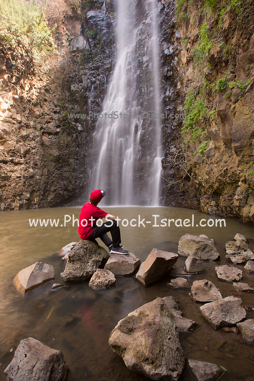 Nahal Gilbon, Gilbon river and waterfall in the Golan Heights, Israel