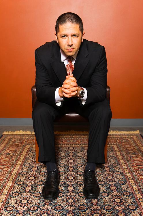 Portrait of Seattle attorney, Rodger Kohn.