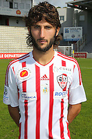 Anthony Lippini during the photocall of Ac Ajaccio for new season on October 17th 2016<br /> Photo : Jean Pierre Belzit / Icon Sport