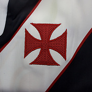 The shirt emblem of Vasco da Gama football team in Rio de Janeiro,  Brazil. 6th September 2010. Photo Tim Clayton.