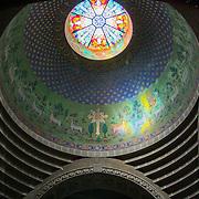 Armenian church dome with circular stained glass window (Lviv (Lvov), Ukraine - Jul. 2008) (Image ID: 080731-1048321a)