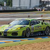#99, Ferrari F430 GT2, Rizi Competizione/Krohn Racing, drivers: Tracy Krohn, Niclas Johnsson, Colin Braun, Le Mans 24H, 2007