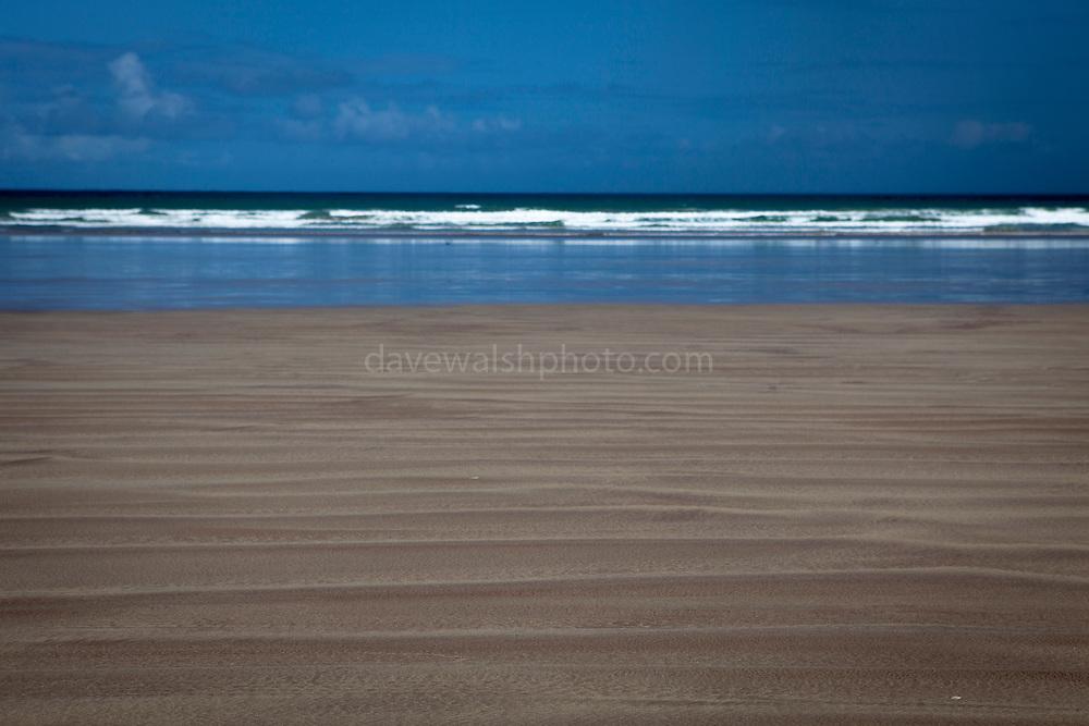 Sand ripples on Fermoyle Beach, on the Dingle Peninsula, Ireland,