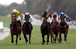Roulette ridden by jockey James Doyle (left) on the way to winning the Victoria Racing Club EBF British Stallion Studs Maiden Fillies' Stakes during Ladies Day of the Qatar Goodwood Festival at Goodwood Racecourse.