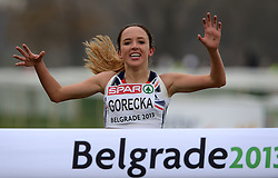 08-12-2013 ATHLETICS: SPAR EC CROSS COUNTRY: BELGRADE<br /> Junior women 4 km / Winnares Emilia Gorecka GBR <br /> ©2013-WWW.FOTOHOOGENDOORN.NL