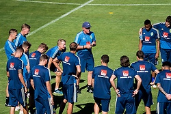 July 4, 2018 - Gelendzhik, Russia - 180704 The head coach of the Swedish national football team, Janne Andersson, talks to the players at a practice session during the FIFA World Cup on July 4, 2018 in Gelendzhik..Photo: Petter Arvidson / BILDBYRÃ…N / kod PA / 92081 (Credit Image: © Petter Arvidson/Bildbyran via ZUMA Press)