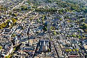 Nederland, Utrecht, Gemeente Utrecht, 30-09-2015; de Utrechtse binnenstad,  Domplein met Domtoren en Domkerk. Buurkerk in de voorgrond. Vismarkt, Oudegracht.<br /> Downtown Utrecht and city centre.<br /> luchtfoto (toeslag op standard tarieven);<br /> aerial photo (additional fee required);<br /> copyright foto/photo Siebe Swart