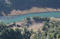 Aerial views of Big River and Mendocino Village on the Mendocino Coast