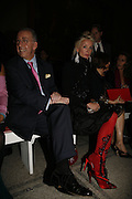 The French Ambassador and Daphne Guinness, Party to celebrate the Christian Lacroix Fashion in Motion fashion show and the opening of  M/M Paris: Antigone Under Hypnosis part of  Paris Calling the UK-wide celebration of contemporary French culture. V. & A. London. 31 October 2006. -DO NOT ARCHIVE-© Copyright Photograph by Dafydd Jones 66 Stockwell Park Rd. London SW9 0DA Tel 020 7733 0108 www.dafjones.com