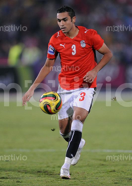 Fussball International   WM  2010  Qualifikation  Afrika  14.11.2009 Aegypten - Algerien Ahmed AL MUHAMADI (EGY) am Ball