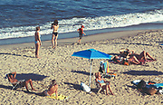 People enjoying summer at the beach. Long Branch, NJ
