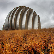Kauffman Center on a cloudy day in the rain, Dec. 20, 2011.