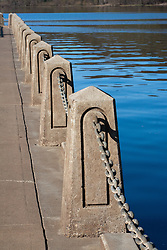 Selections from a day trip to Stillwater,--The Birthplace of Minnesota .  Concrete pylons run the entire length of the Stillwater riverfront walk.  In spring, these are often beneath the waterline.
