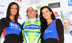 Franco Pellizotti of Italia (Liquigas) second best in overall classification at 15th Tour de Slovenie  after last 4th stage of the 15th Tour de Slovenie from Celje to Novo mesto (157 km), on June 14,2008, Slovenia. (Photo by Vid Ponikvar / Sportal Images)/ Sportida)