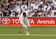 Lord's London, 1st NPower Test   England v New Zealand.  Steve Harmison, picks up from his own delivery, 20/05/2004 <br /> [Credit Peter Spurrier Intersport Images}