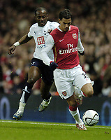 Photo: Olly Greenwood.<br />Arsenal v Tottenham Hotspur. Carling Cup Semi Final 2nd leg 31/01/2007. Spurs Didier Zokora and Arsenal's Jeremie Aliadiere